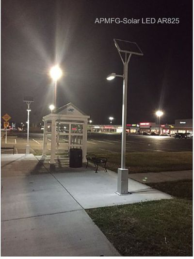 Solar Bus Stop Led Lighting Apmfg Mobile